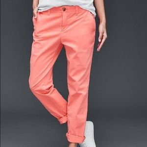 Gap Chino Girlfriend Pants - Pink